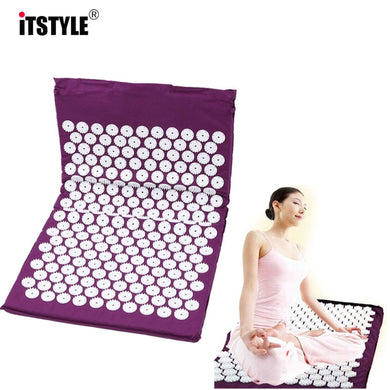 Yoga Mats Back Body Relieve Stress Tension ABS spike Acupressure Massage Relaxation Pain Pad Mat