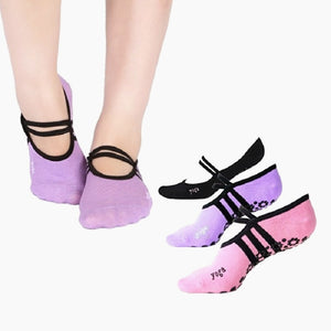 Yoga Socks Non Slip Skid Socks Pilates Running Socks Pink Black Women Anti Slip Cotton Fitness Dance Sock