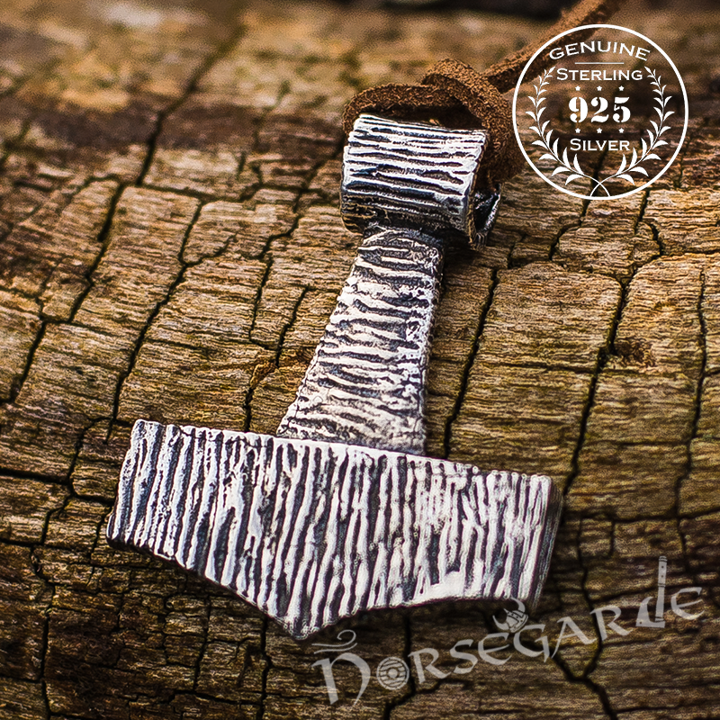 Handcrafted Traditional Style Mjölnir - Sterling Silver