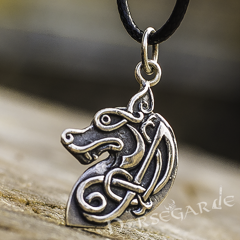 Handcrafted Celtic Wolf - Sterling Silver