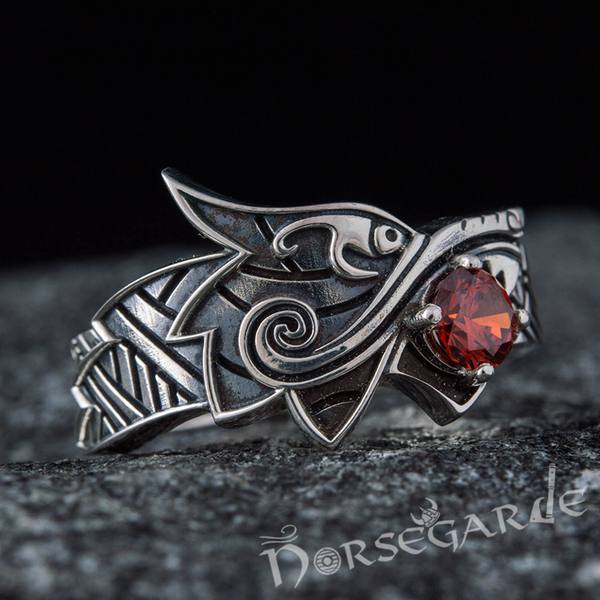 Handcrafted Fenrir Sun Eater Ring - Sterling Silver