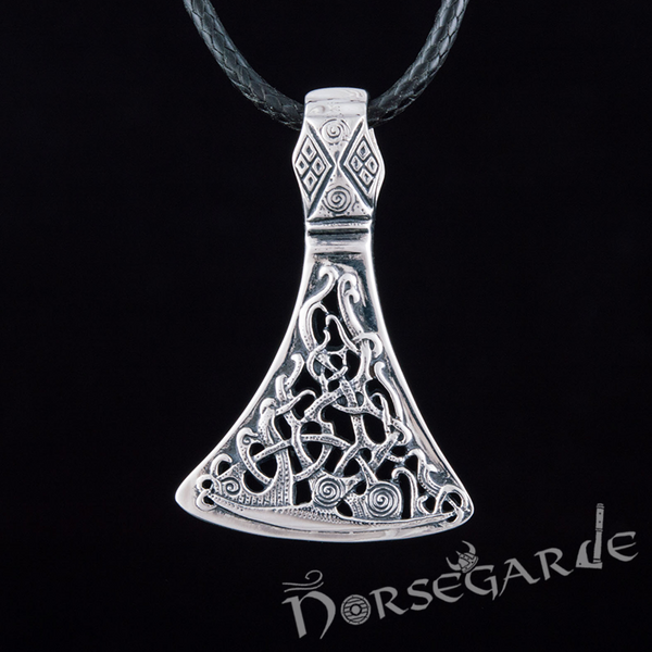 Handcrafted Mammen Ornament Axe Pendant - Sterling Silver