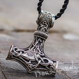Handcrafted Mammen Engraved Large Mjölnir - Sterling Silver