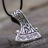 Handcrafted Miniature Perun's Axe Pendant - Sterling Silver