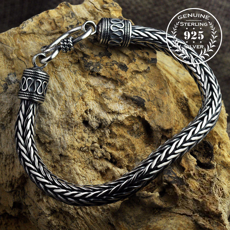 Scaled Ornamental Chain Bracelet - Sterling Silver
