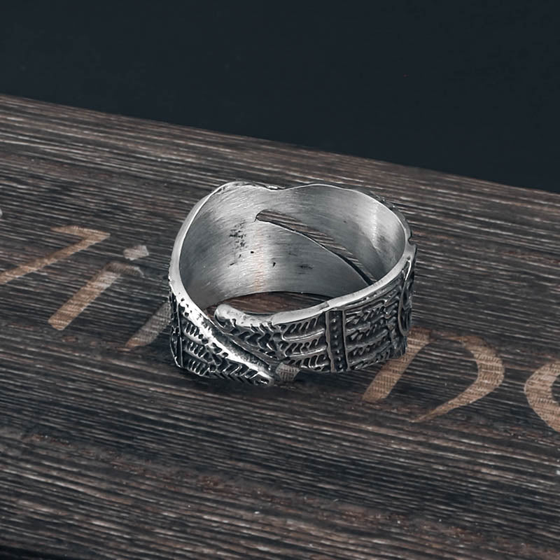 Hugin and Munin Raven Ring - Stainless Steel