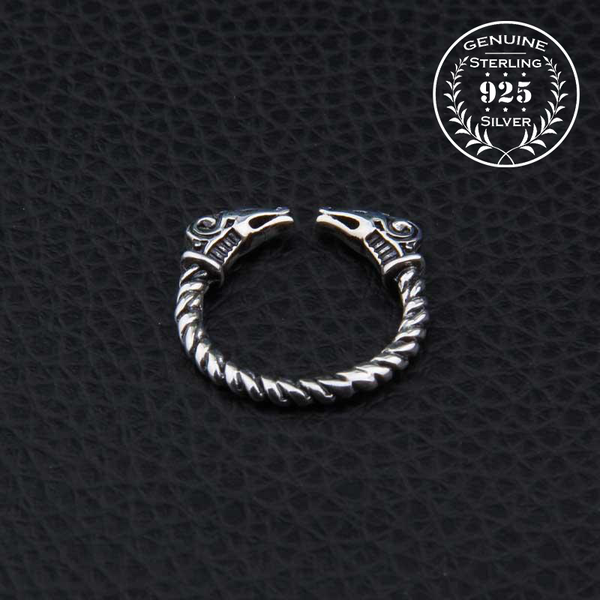 Thor's Goats Ring - Sterling Silver