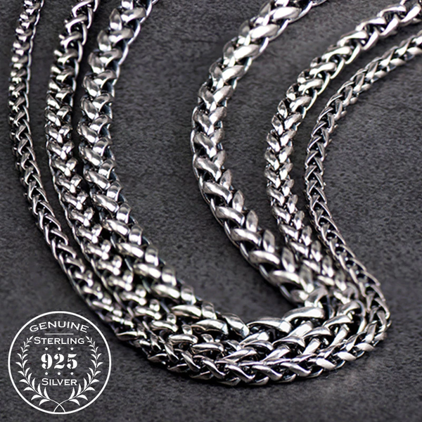 Fashion Link Chain Necklace - Sterling Silver