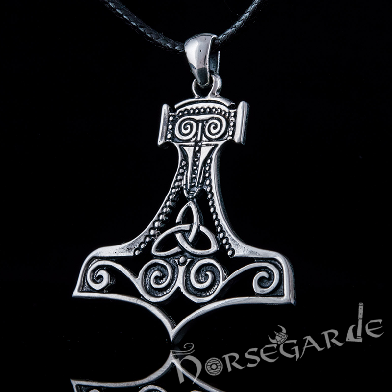Handcrafted Silhouette Scania Mjölnir - Sterling Silver
