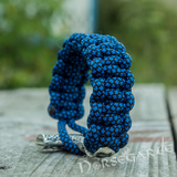 Handcrafted River Paracord Bracelet with Large Mjölnir - Sterling Silver