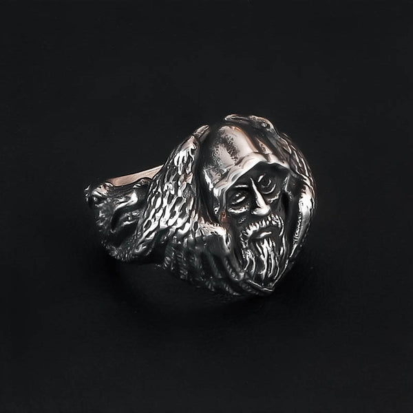 Odin and Ravens Ring - Stainless Steel
