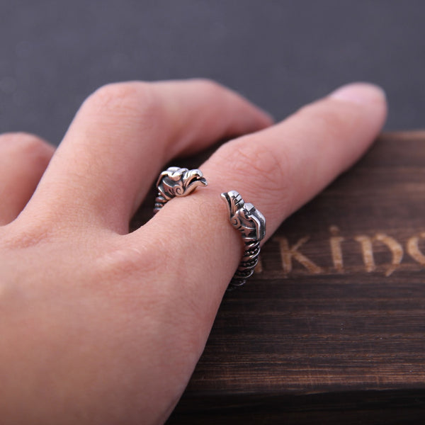 Adjustable Dragon Ring - Stainless Steel