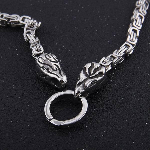 Raven's Bite Ring Heavy Chain - Stainless Steel