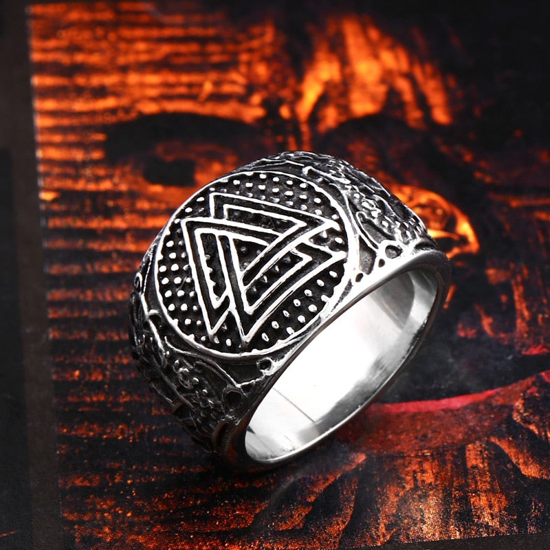 Valknut Rune Ring - Stainless Steel
