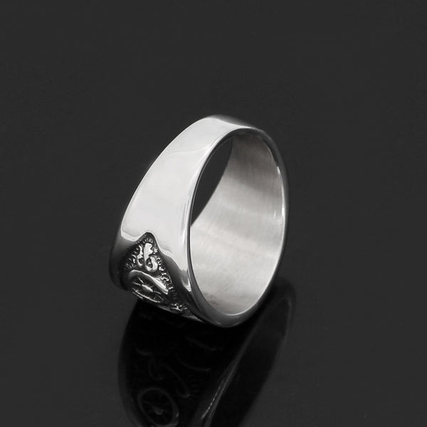 Thor's Hammer Ornamental Ring - Stainless Steel