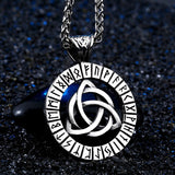Runic Celtic Knot Amulet - Stainless Steel