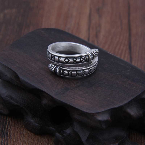 Runic Band Ring - Stainless Steel
