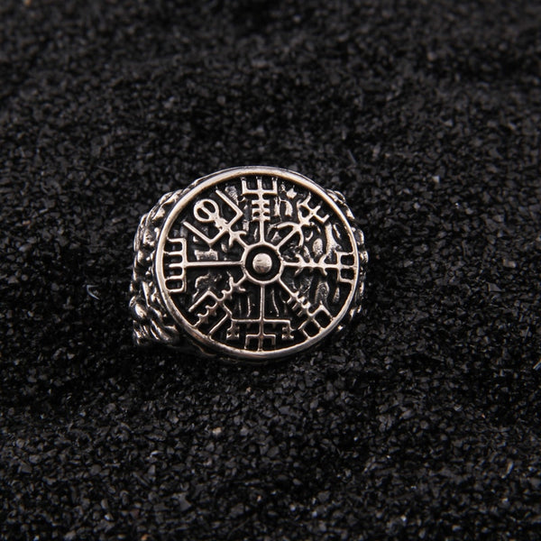 Vegvisir Signet Ring - Stainless Steel