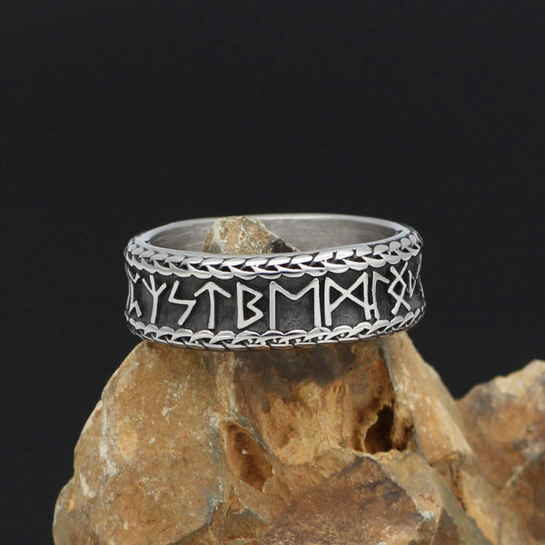 Viking Runic Band - Stainless Steel