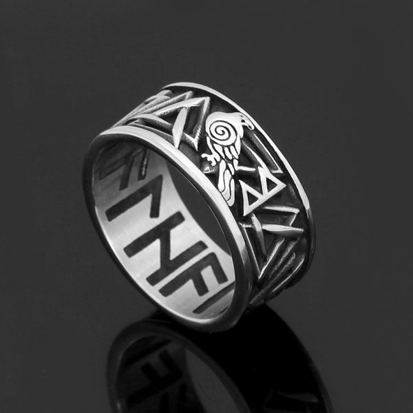 Valknut Runic Circle Band - Stainless Steel