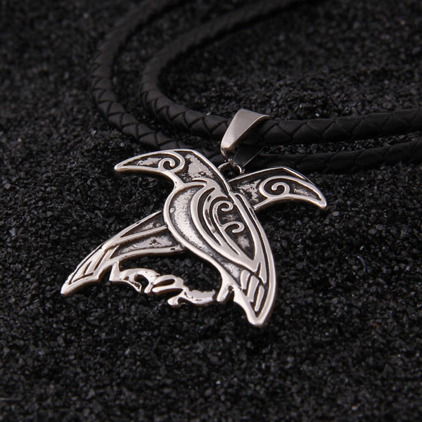 Hugin and Munin Pendant - Sterling Silver