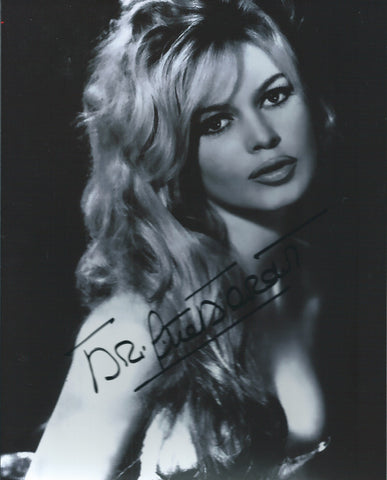 Brigitte Bardot Signed 8x10 Photo