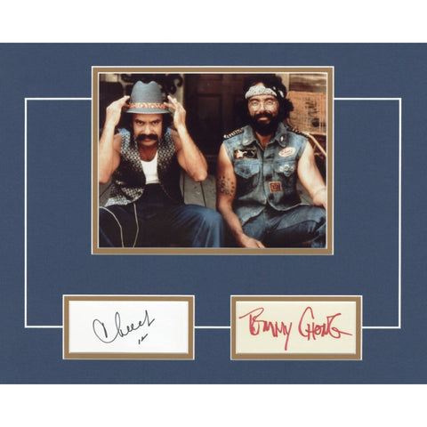 Cheech Marin and Tommy Chong Signed 14x18 Matted Display