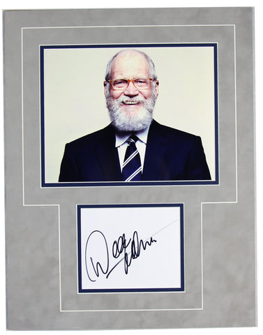 David Letterman Signed 14x18 Matted Display