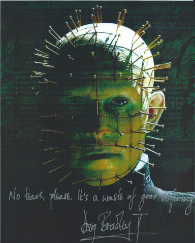 Doug Bradley Signed 8x10 Photo