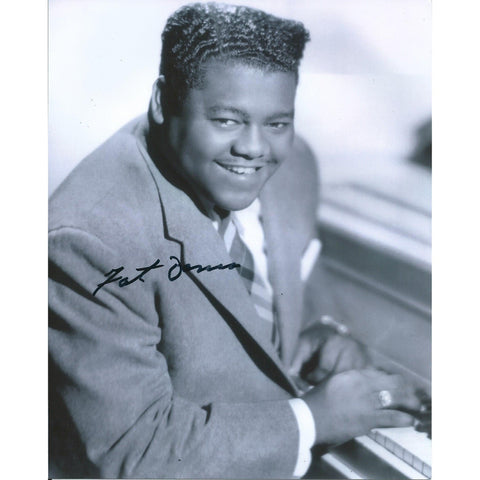 Fats Domino Signed 8x10 Photo