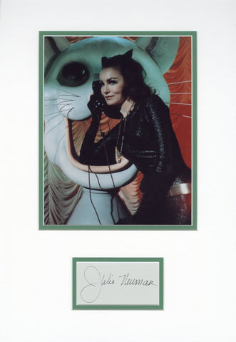 Julie Newmar Signed Matted Display