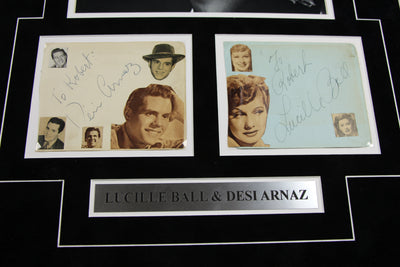 I Love Lucy Signed 17x26 Matted Display