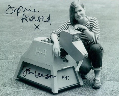 Sophie Aldred John Leeson Signed 8x10 Photo