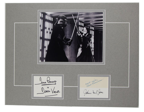 Star Wars Darth Vader Obi Wan Signed 12x18 Matted Display