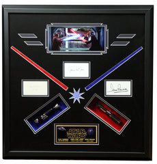 Star Wars Darth Vader Obi Wan Signed Framed Amazing Display