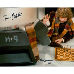 Tom Baker and John Leeson Signed 8x10 Photo