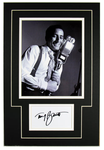 Tony Bennett Signed 12x18 Matted Display