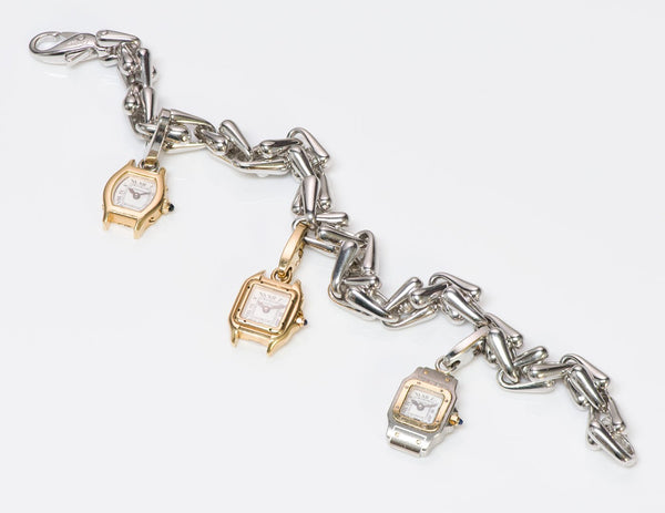 Cartier gold bracelet charm watch