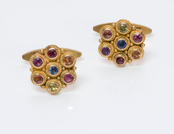 Gemstone Gold Cufflinks