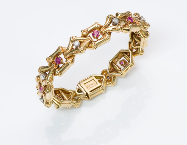 Tiffany & Co. Diamond Ruby Bracelet