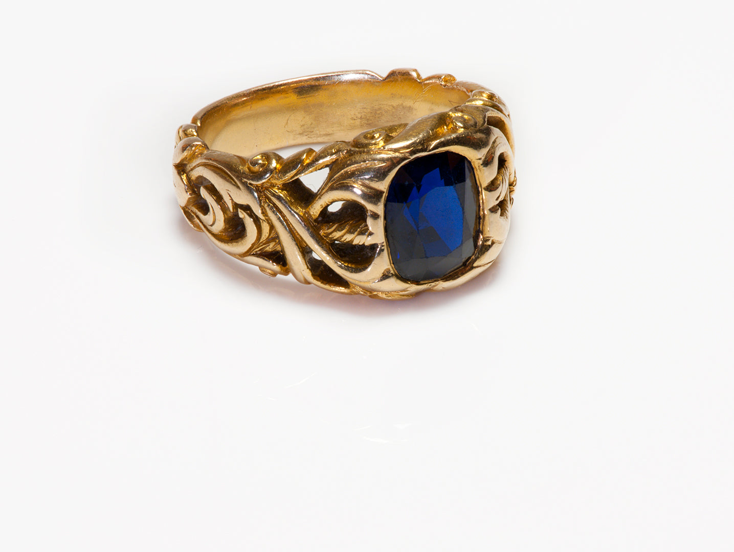 antique-tiffany-co-gold-sapphire-ring-mens