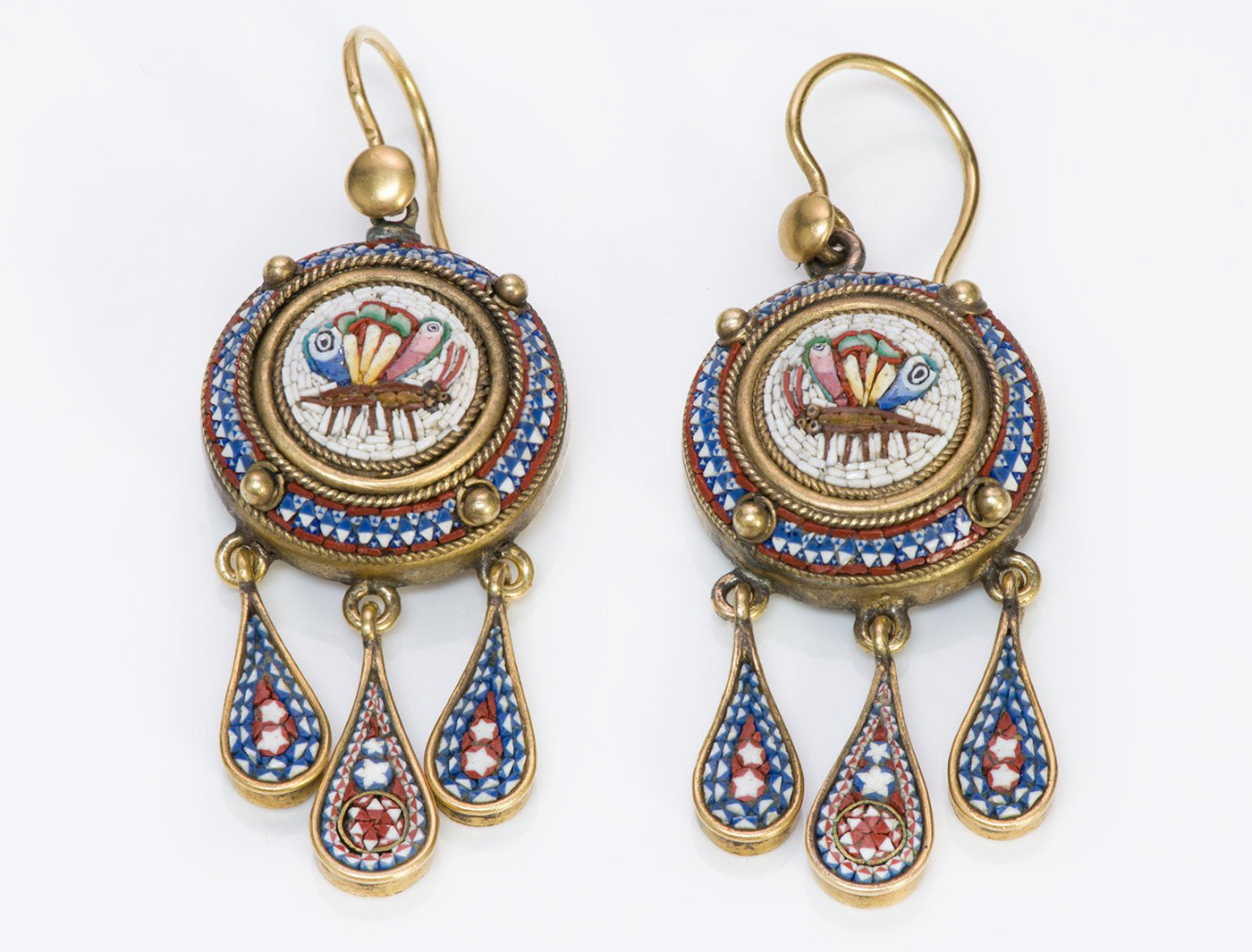 antique-mosaic-gold-earrings