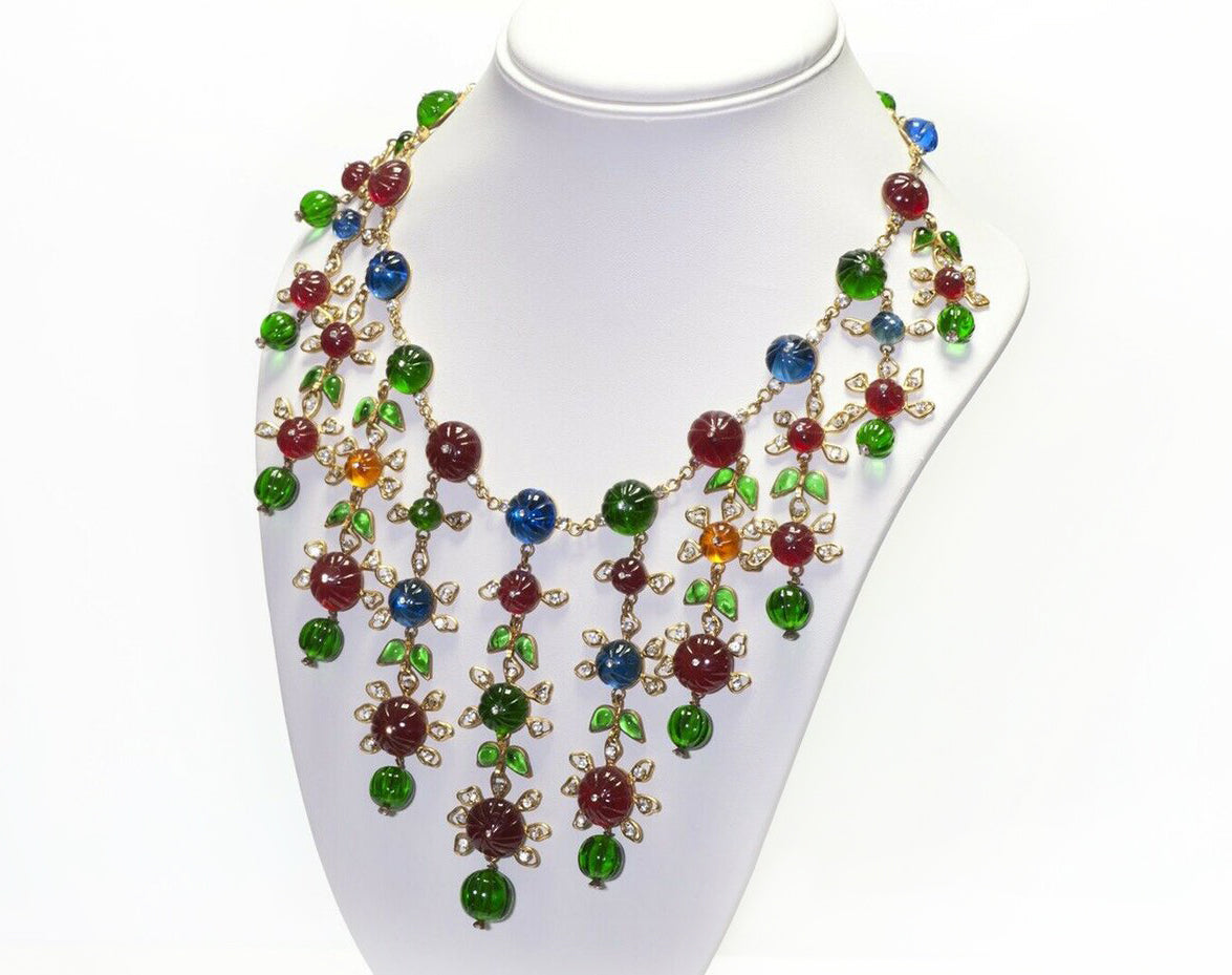 chanel-couture-gripoix-camellia-green-red-blue-glass-necklace