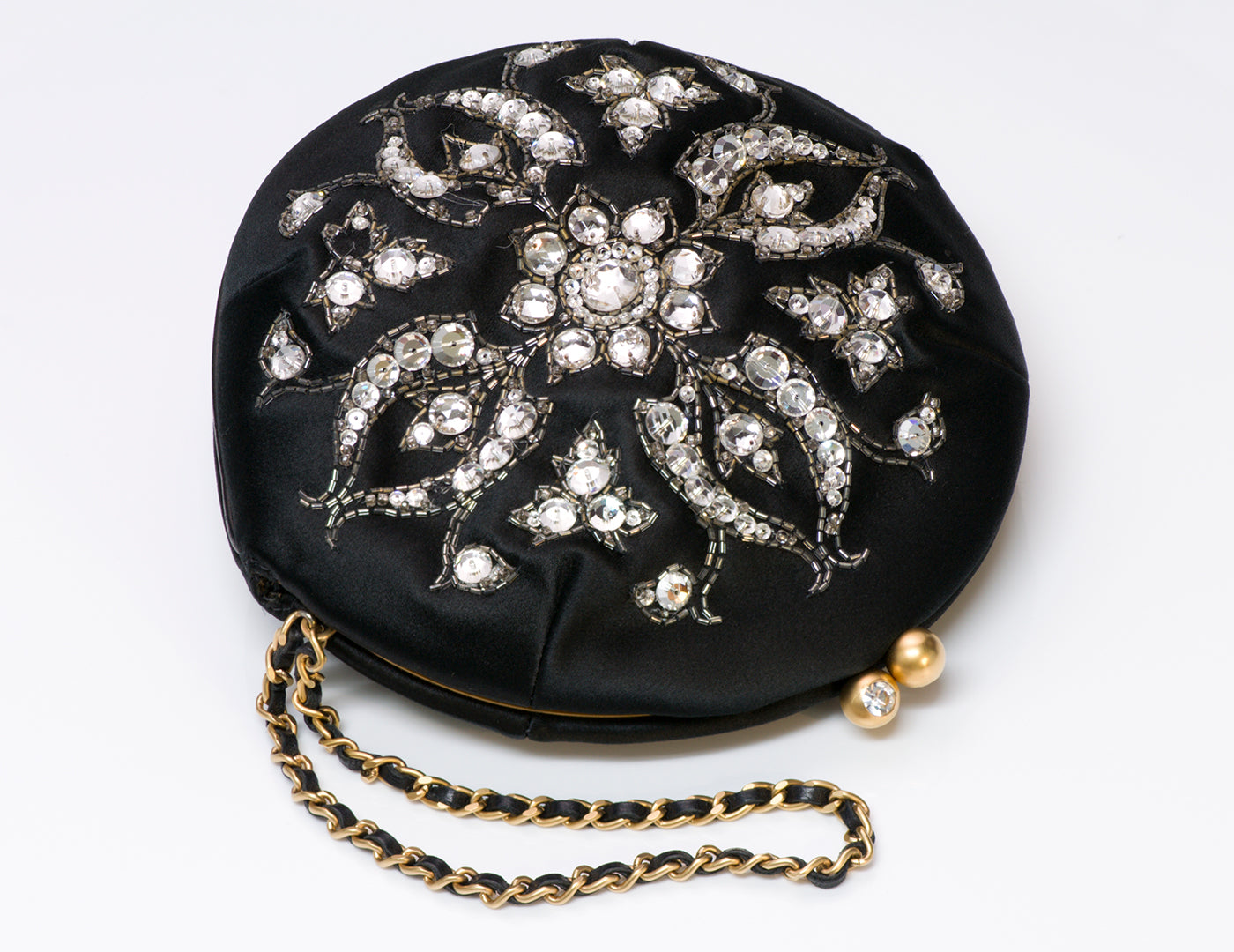 chanel-satin-beaded-crystal-round-clutch-bag