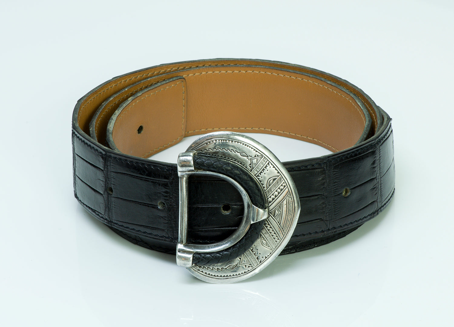 hermes-tuareg-silver-alligator-belt
