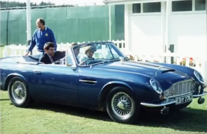 Prince Charles' Vintage Aston Martin Cheese and Wine