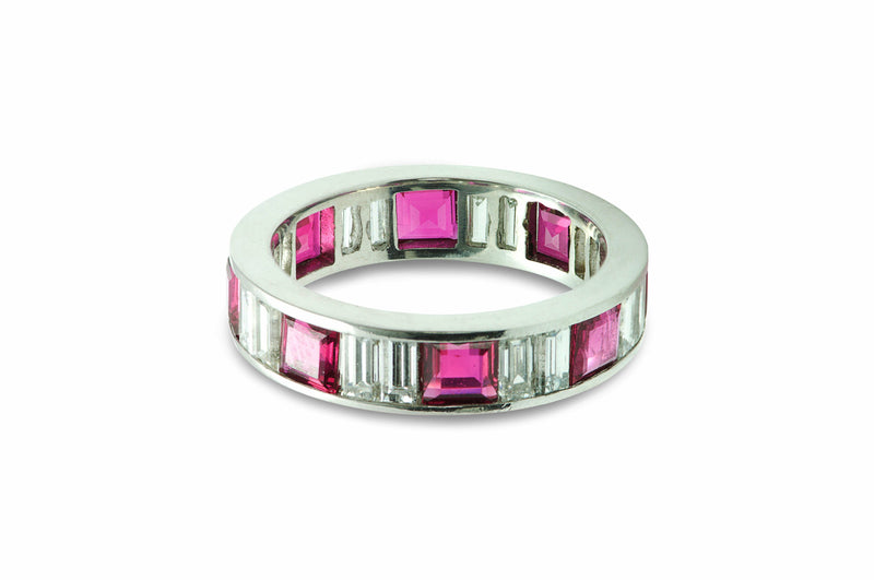 ruby diamond band