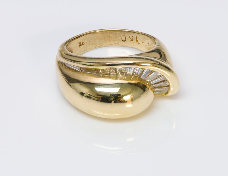Baguette Diamond 18K Yellow Gold Ring