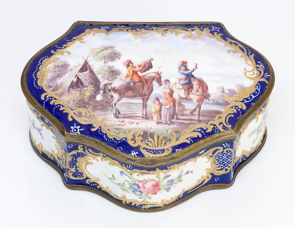 Antique 18th Century Battersea Enamel Box