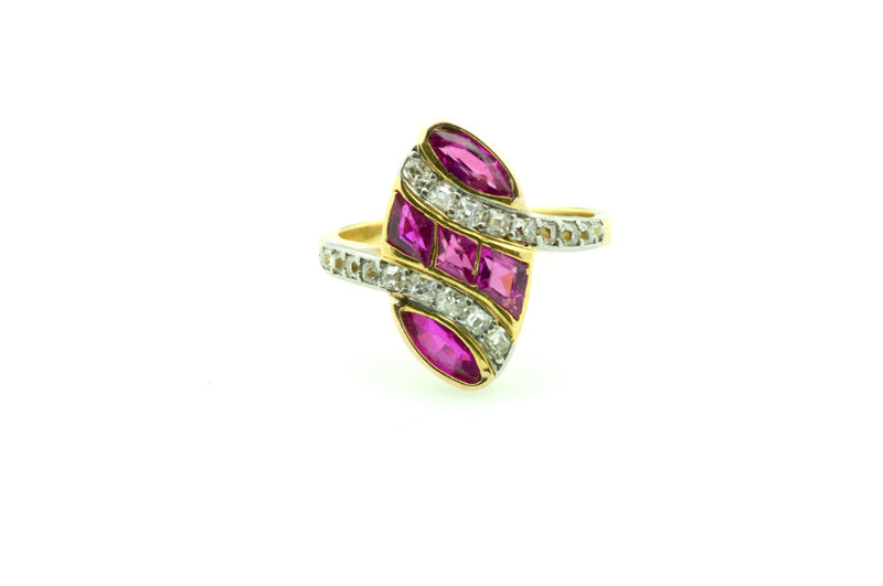 ruby, diamond, gold, ring